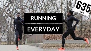 running everyday | 635 day run update | winter running
