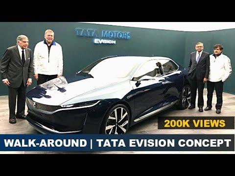 Walk -Around |Tata EVision Sedan Concept With Ratan Tata @ Geneva