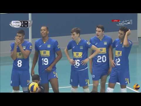 Brazil vs Cuba | 21 August 2017 FIVB Volleyball U19 Boy's Championship