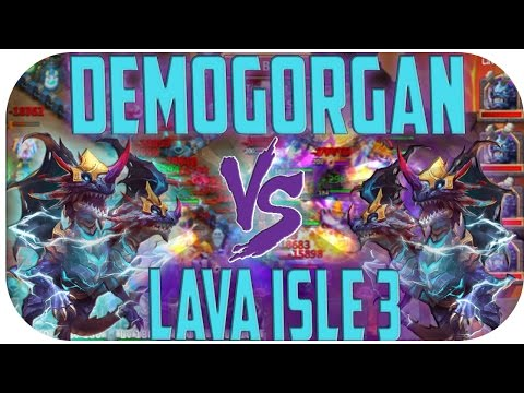 Demogorgan Vs. Lava Isle 3 [Castle Clash Raw]