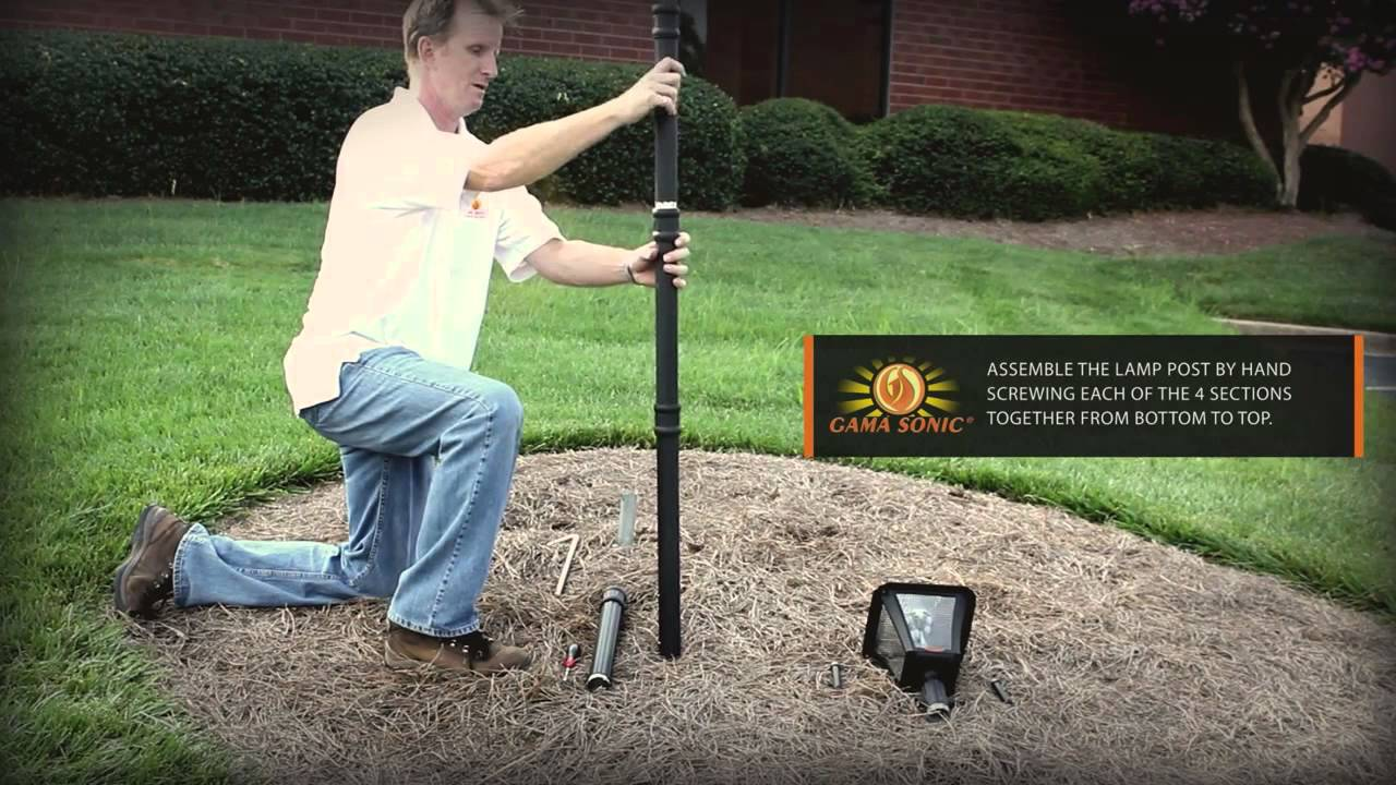 Baytown Solar Lamp Post With Ez Anchor Installation Movie