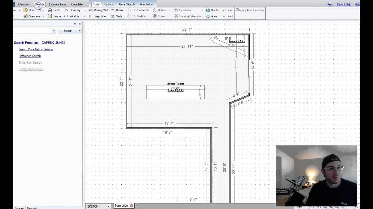 Xactimate Estimating: Using AREA blocks to subtract Floor square footage