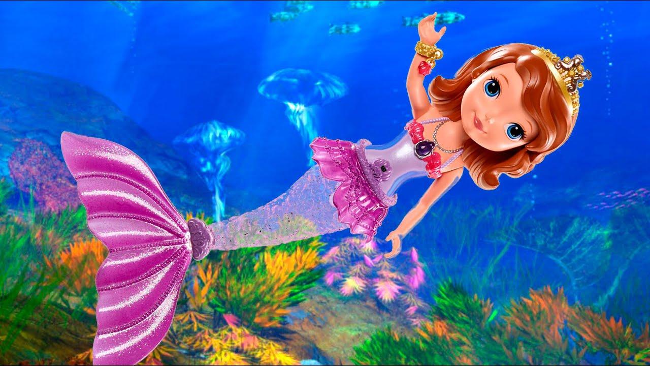 Mermaid Sofia Bath Doll The First Disney Mattel Ccx10 Md Toys You