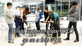 Download What happens when EXO go on a trip Pt 2 Mp3 and Videos