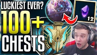 LUCKIEST 100+ CHEST OPENING!! 12 GEMSTONES & SO MANY RARE SKINS! Every Box 2017 - League of Legends