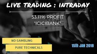 53.11% Profit LIVE TRADING : ICICIBANK