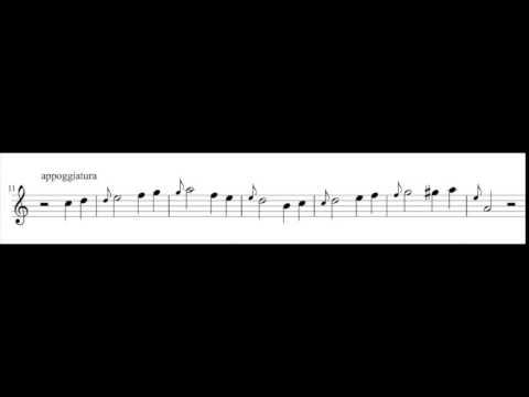 (1/2) une leçon sur les agréemnts pour la flûte à bec