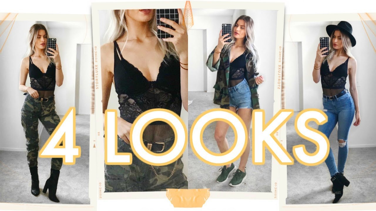 HOW TO STYLE: A LACE BODYSUIT! 4 outfits!