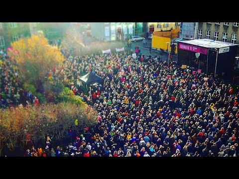 Mass Protests Erupt In Iceland
