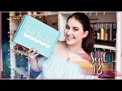 BOOK BOX CLUB SEPTEMBER 2018 UNBOXING | Book Roast