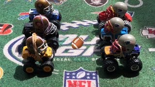 """MONSTER TRUCK FOOTBALL PLAYOFF GAME """"49ers VS PATRIOTS"""