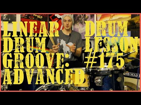 Advanced Linear Drum Beat - Lesson #175