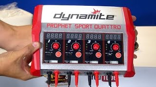 RC ADVENTURES - Unboxing a Prophet Sport Quattro 4 x 100W AC/DC Battery Charger by Dynamite RC