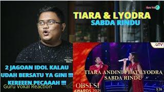 Download GURU VOKAL REACT : TIARA & LYODRA - SABDA RINDU | OBSESI AWARDS 2021 | DUA KESYAHDUAN INDONESIA !!!