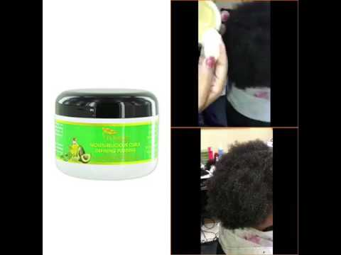 J'Organic Solutions Moisturelicious curls pudding on 4c hair