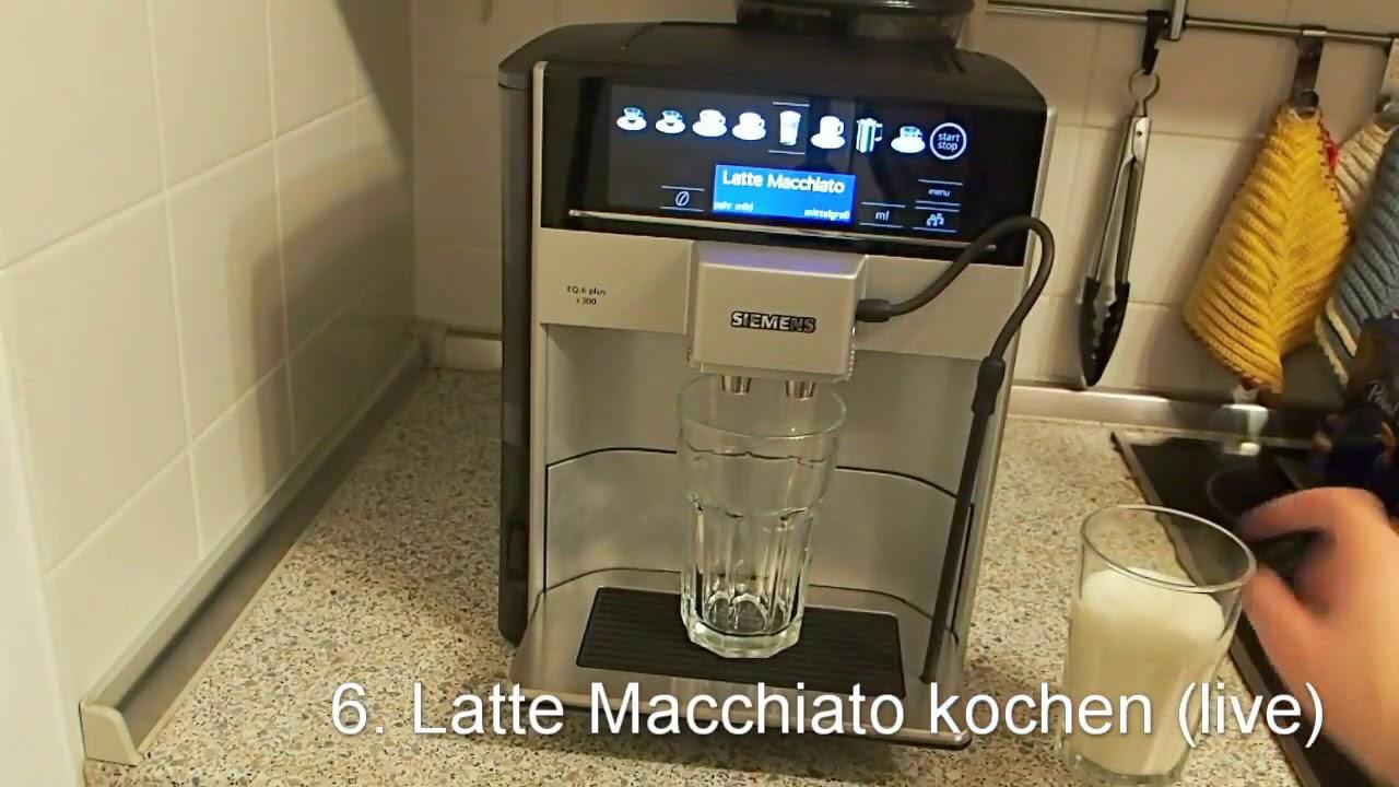 Kaffeevollautomat Siemens Eq 6 Plus S300 Im Test Youtube