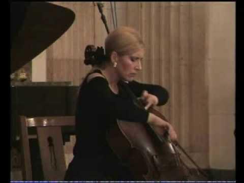 J.Brahms e-moll sonate  cello-piano  2.mov. Sanja Jancic-cello, Aurelie Tremblay-piano