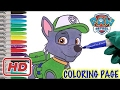 Nickelodeon rocky paw patrol coloring page fun coloring activity for kids toddlers children bb mp3