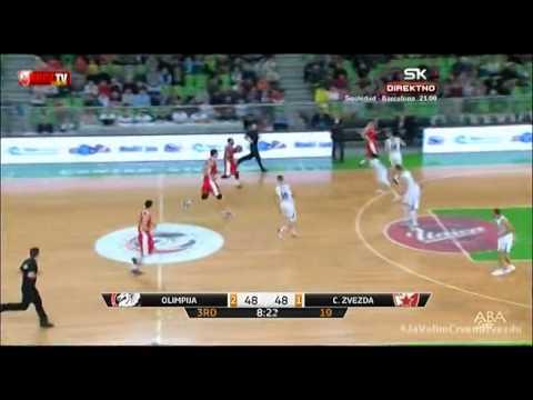 Union Olimpija : Crvena zvezda Telekom 81:91 | Cela utakmica [16. kolo ABA lige | 04.01.2015.]