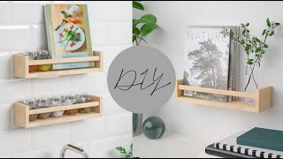 DIY IKEA SPICE RACKS (3pc UNDER 5)