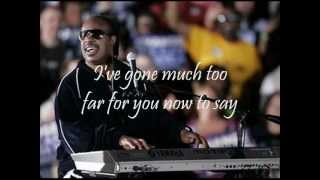 STEVIE WONDER - OVERJOYED (with lyrics)
