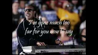 STEVIE WONDER - OVERJOYED (with lyrics)