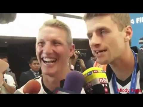 Thomas Mueller veräppelt Reporterin nach WM Finale 2014! Wywiad z Thomas Mueller