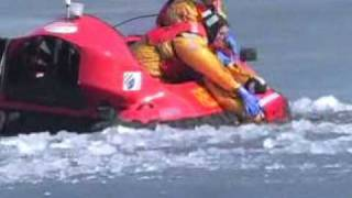 Hovercraft Ice Rescue Demo - Anchorage Airport