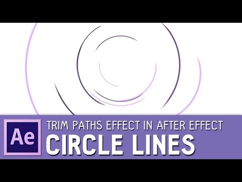Circle Line Animation with Trim Paths effect | After Effects tutorial