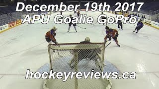 December 19th 2017 APU Call Up Hockey Goalie GoPro