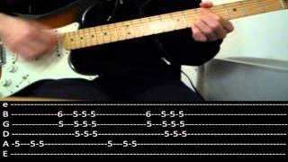 RHCP - Knock me down (lesson w/ tabs)