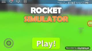 Playing in the ROBLOX (Rocket Simulator)