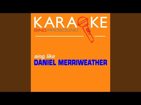 Red (In The Style Of Daniel Merriweather) (Karaoke With Background Vocal)