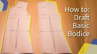 [DETAILED] HOW TO: MAKE BASIC BODICE BLOCK PATTERN | KIM DAVE
