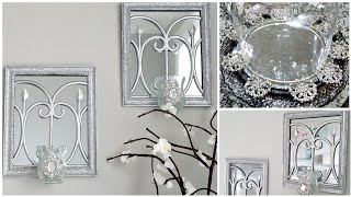 Dollar Tree DIY Glam Wall Sconce and Tray