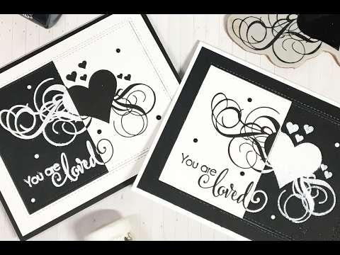 MISTI Technique: Black and White Cards