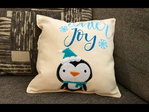 christmas pillow with the cricut maker machine youtube