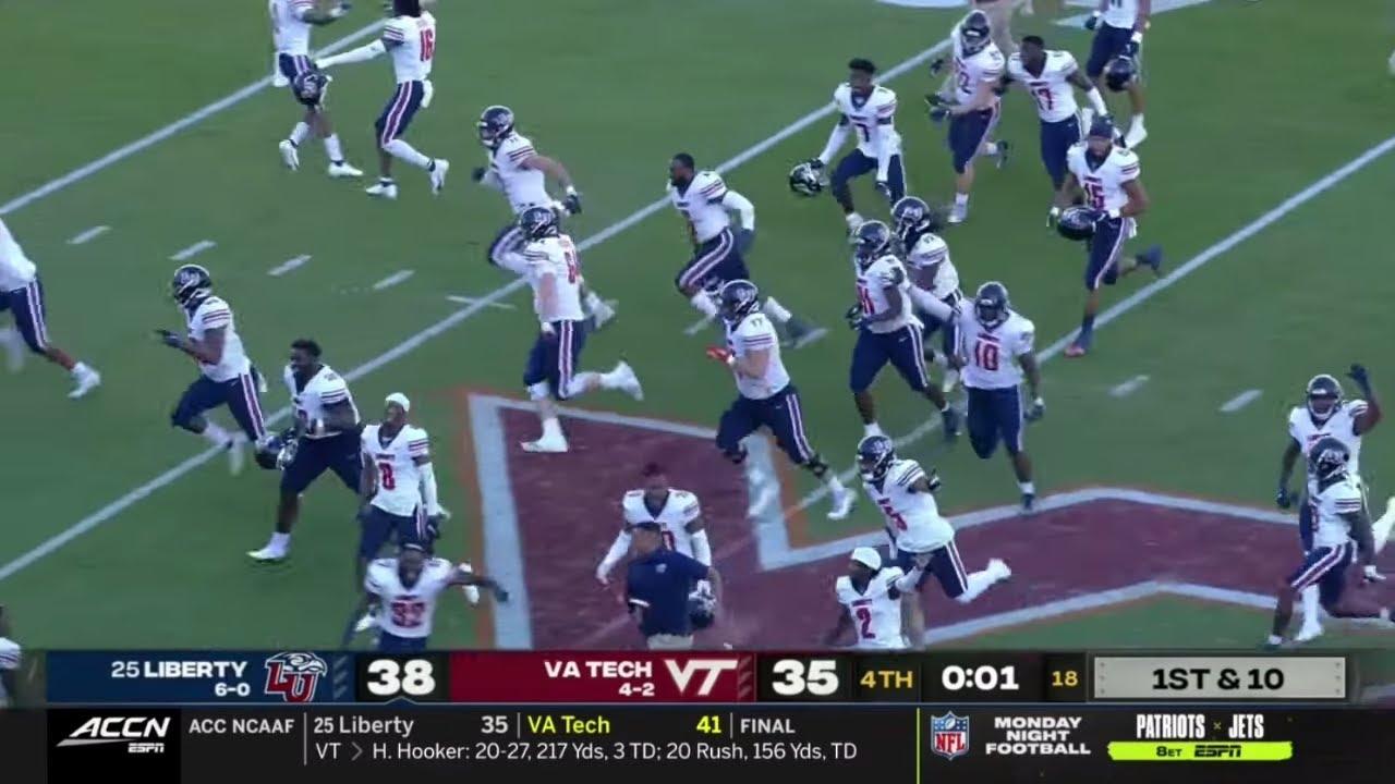25 Liberty Vs Virginia Tech Wild Ending 2020 College Football Youtube