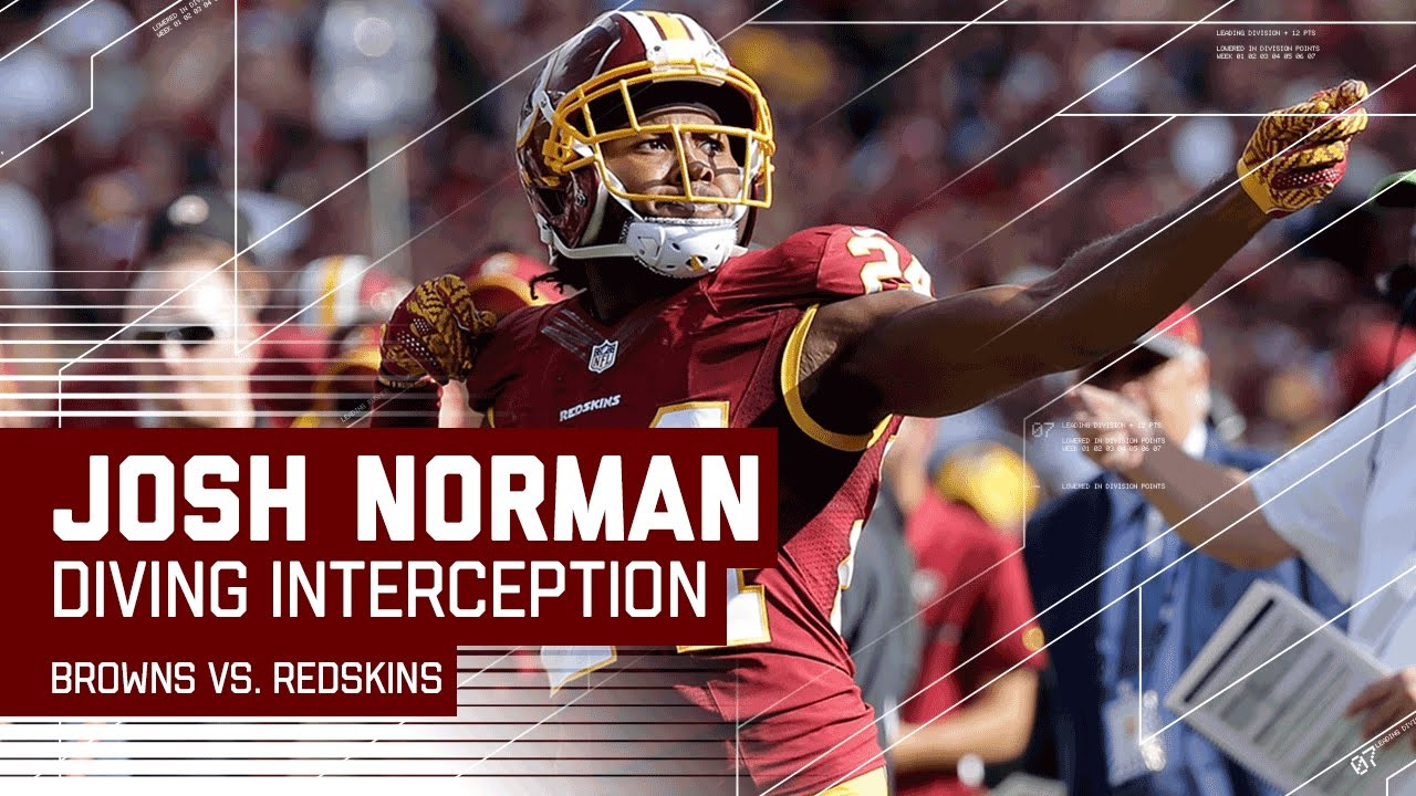 d8d3333e8f5 Redskins Fumble Recovery   Josh Norman s Diving INT!