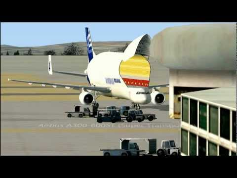 FSX Airbus A300-600ST Beluga Landing In Toulouse