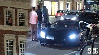 Angry Man Throws an Apple at a Lamborghini Aventador