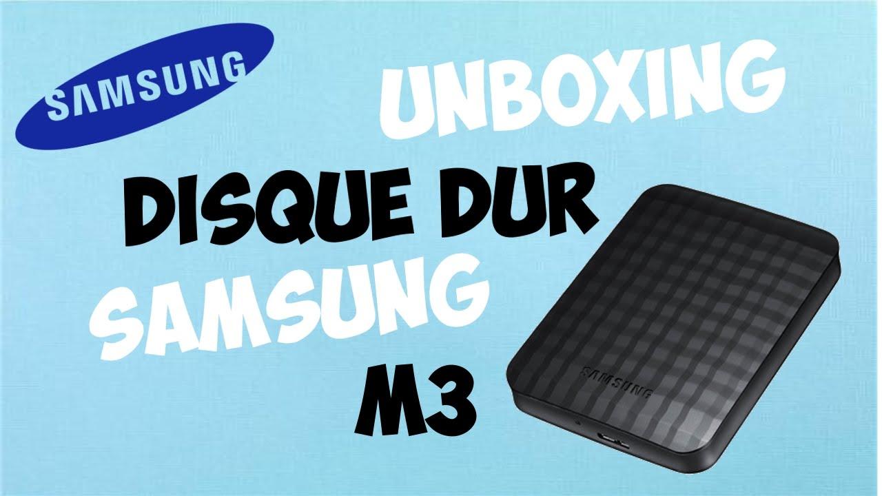 unboxing du disque dur externe samsung m3 youtube