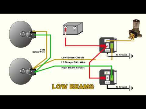 How to wire headlight relays - YouTube Headlight Dimmer Relay Wiring Diagram on