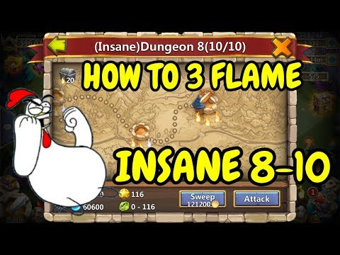 Insane Dungeon 8-10 3 Flamed L How To 3 Flame Insane Dungeon 8-10 L Castle Clash