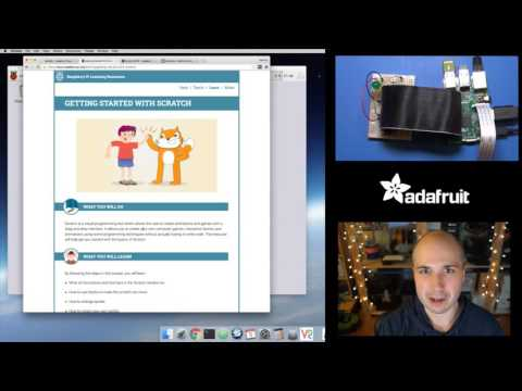 Raspberry Pi Quick Look at Scratch visual programming with Tony D! @adafruit #LIVE