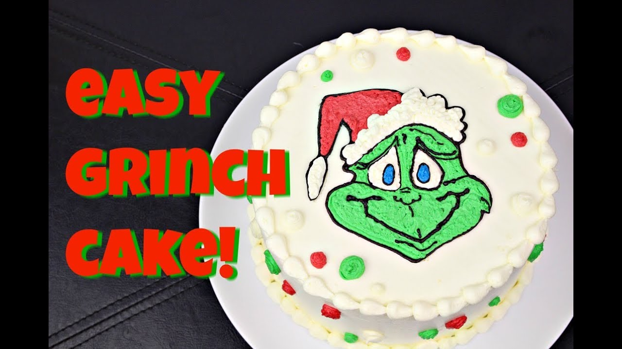 premium selection f43d5 e1f62 Easy Grinch Cake! 2 Recipes & No Special Tools! Gretchen's Bakery