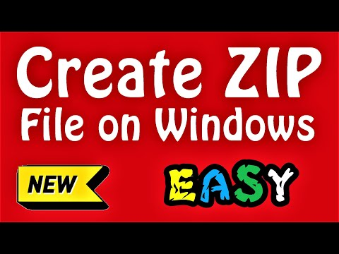 How To Create A ZIP File Windows 10 \ 8 \ 7 (English) Compress Many Files In One ZIP File