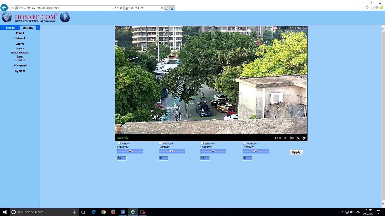 windows motion detection camera software