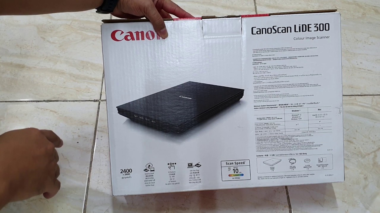 Unboxing CANON CanoScan LiDE 300