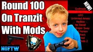 Black Ops 2 Zombies ROUND 100 MOD MENU TROLLING! (ROUND SKIP GLITCH TROLL!) XBOX ONE!